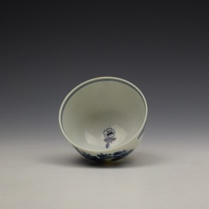 Lowestoft Three Flowers Pattern Teabowl and Saucer c1780-85 (7)