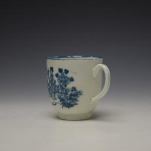 Worcester Three Ladies Pattern Coffee Cup c1770-80 (5)