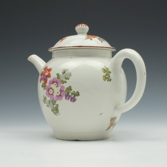 Lowestoft Porcelain Tulip Painter Teapot and Cover c1770 (6)