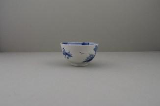Lowestoft Porcelain Two Pagoda Bridge Landscape pattern Teabowl and Saucer, C1775-90 (12)