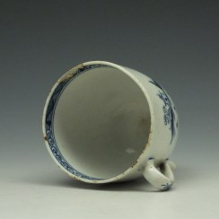 Lowestoft Two Story House and River Pattern Coffee Cup c1785-95 (6)