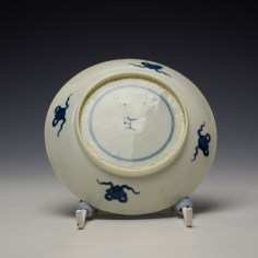 Worcester Arcade Pattern Teabowl and Saucer c1765-70 (8)