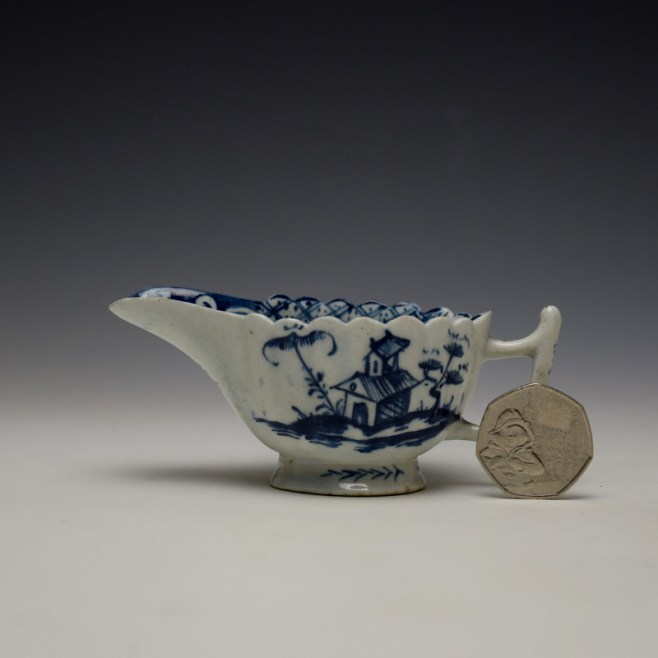 Lowestoft Chinese Island and Pagoda Pattern Butterboat c1765 (2)