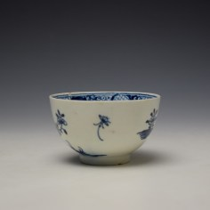 Lowestoft Flowering Plant Holed Rock and Fence Pattern Teabowl and Saucer c1780-85 (5)