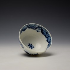 Lowestoft Flowering Plant Holed Rock and Fence Pattern Teabowl and Saucer c1780-85 (7)