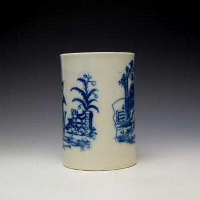 Caughley La Peche La Promenade Chinoise Pattern Mug c1776-92 (3)