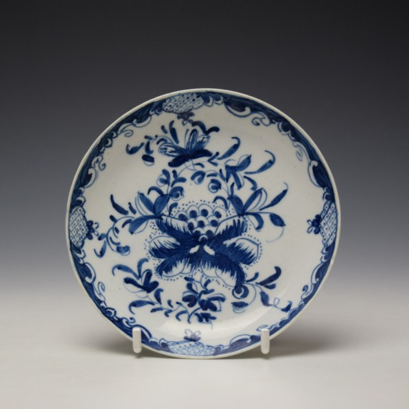 Bow Mansfield Pattern Saucer c1760-65 (1)