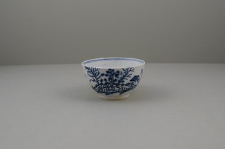 Lowestoft Porcelain Rock Strata Pattern Teabowl and Saucer, C1770-80 (2)
