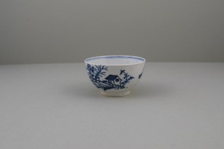 Lowestoft Porcelain Rock Strata Pattern Teabowl and Saucer, C1770-80 (7)