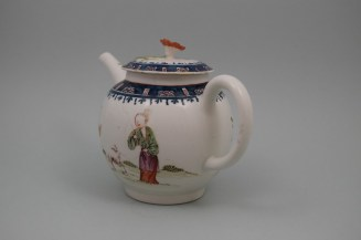 Lowestoft Porcelain Mandarin A Walk In The Park Pattern, C1768-70 (7)