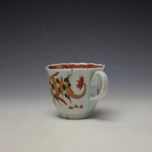 Worcester Red Crab Pattern Fluted Coffee Cup c1758-65 (5)