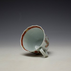 Worcester Red Crab Pattern Fluted Coffee Cup c1758-65 (6)