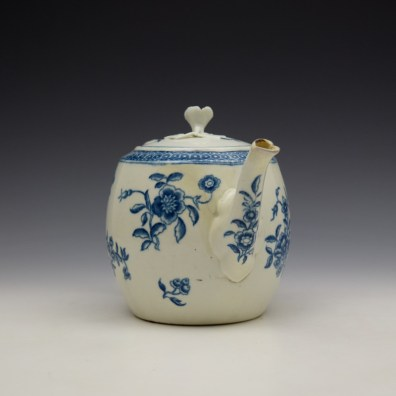 Worcester Ribbon Root Pattern Teapot and Cover c1775 (3)