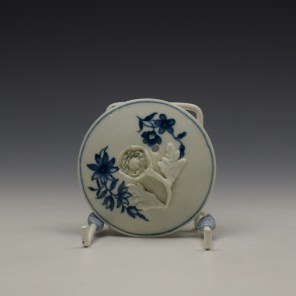 Worcester Ribbon Root Pattern Teapot and Cover c1775 (9)