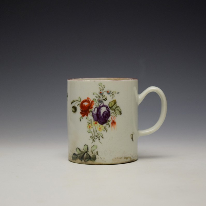 West Pans Floral Pattern Small Mug c1760-70 (1)