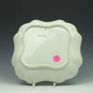 Worcester Carnation Pattern Square Dish c1775 (3)