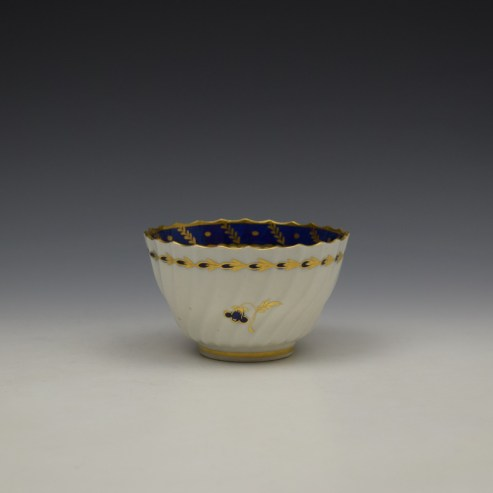 Worcester Flight Period Corn Sprigs Pattern Trio c1785 (10)