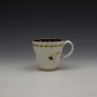Worcester Flight Period Corn Sprigs Pattern Trio c1785 (2)