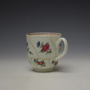 Worcester Queens Floral Pattern Coffee Cup c1765-70 (5)