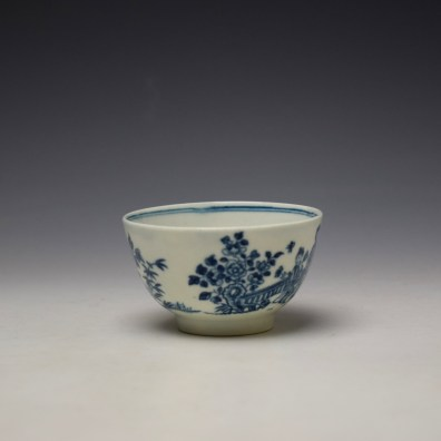 Worcester The Three Ladies Pattern Teabowl and Saucer c1770-80 (3)