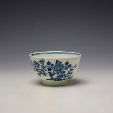 Worcester The Three Ladies Pattern Teabowl and Saucer c1770-80 (4)