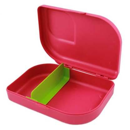 Plastikfreie Brotbox pink