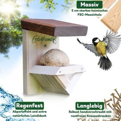 Vogelfutterkasten für Meisenknödel
