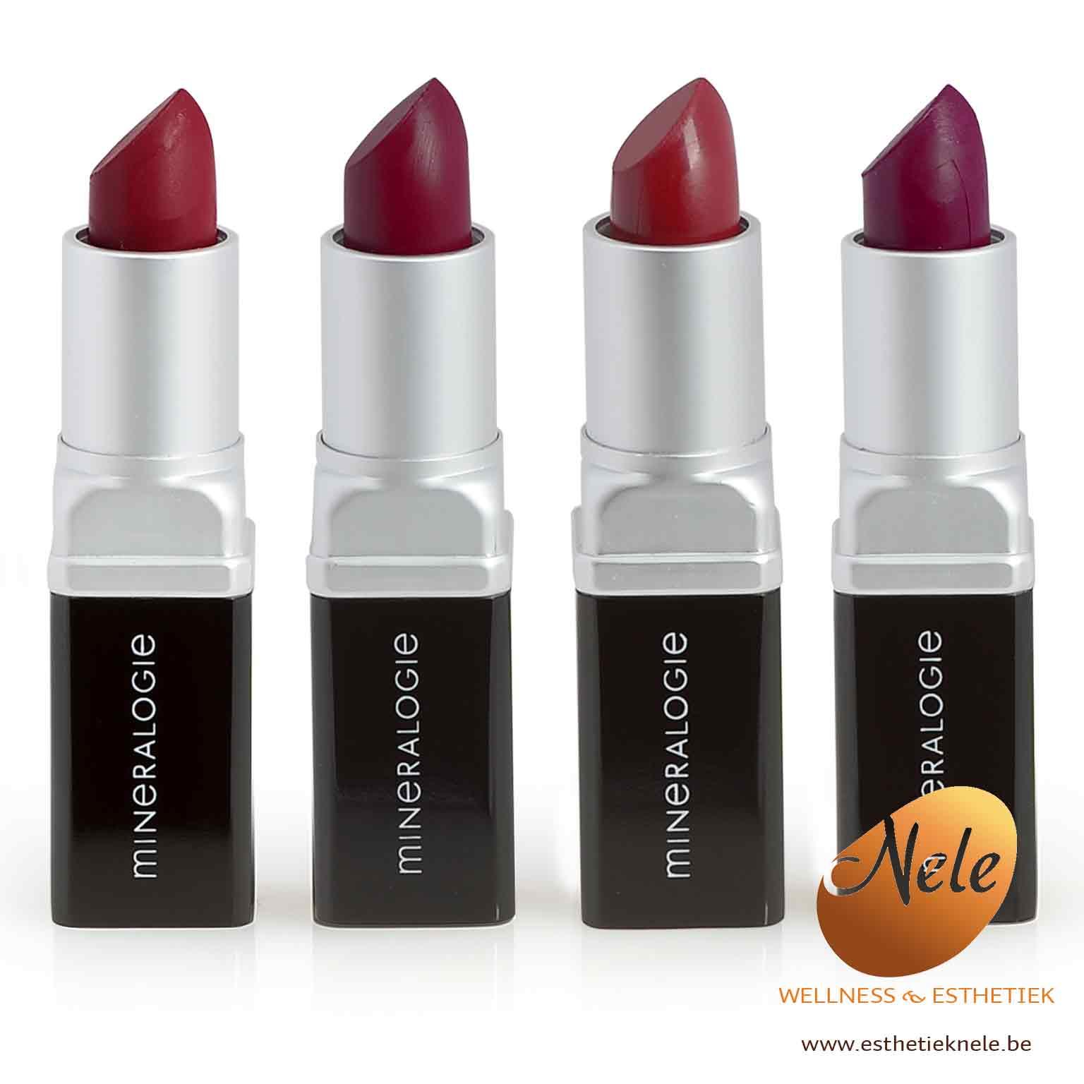 Mineralogie Minerale Make-up Lipstick Wellness Esthetiek Nele