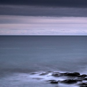 Time exposure at night of ocean on Great Ocean Road used as thumbnail at Excitations Online Shop.