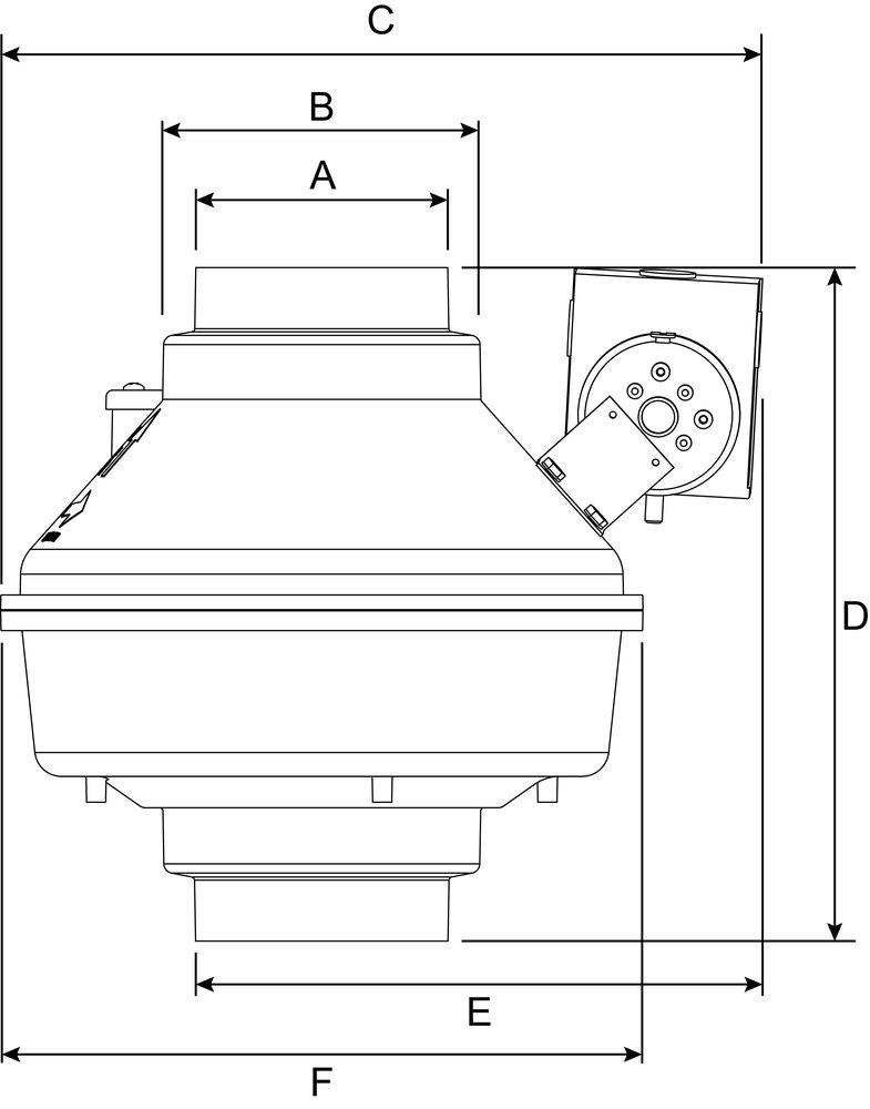 dbf 110 duct booster fan fans