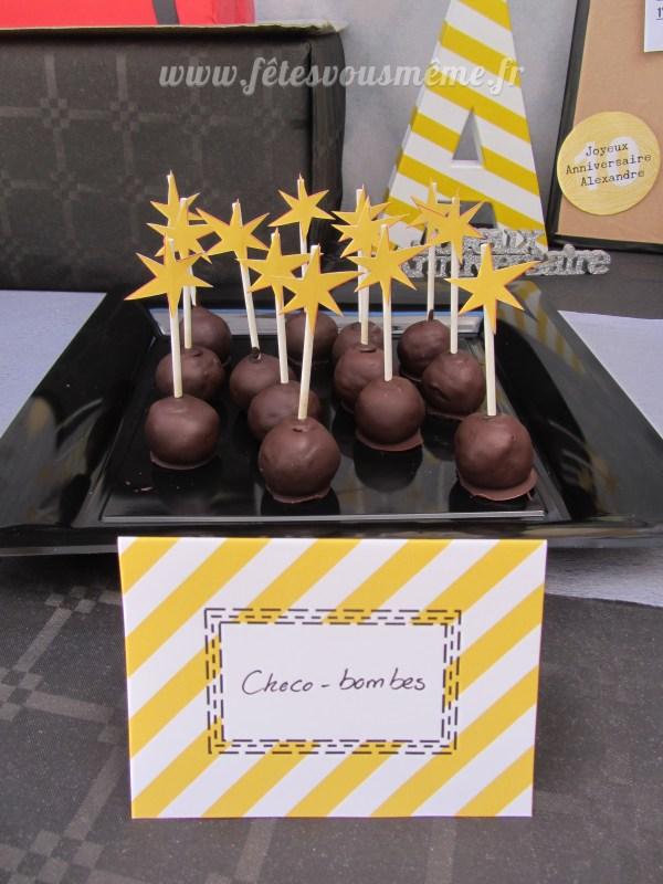 Kit anniversaire Agent Secret - Bombes chocolat - Fêtes vous même