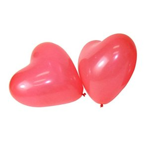 Ballons coeur rouges