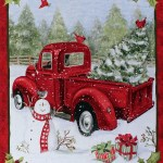 35 5 X 44 Christmas Fun Panel Red Truck Christmas Tree Farm Snowman Gifts Presents Cardinals Winter Holidays Red Cotton Fabric Panel 69167 D650715