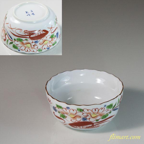 京紫龍峰赤絵小鉢W6393