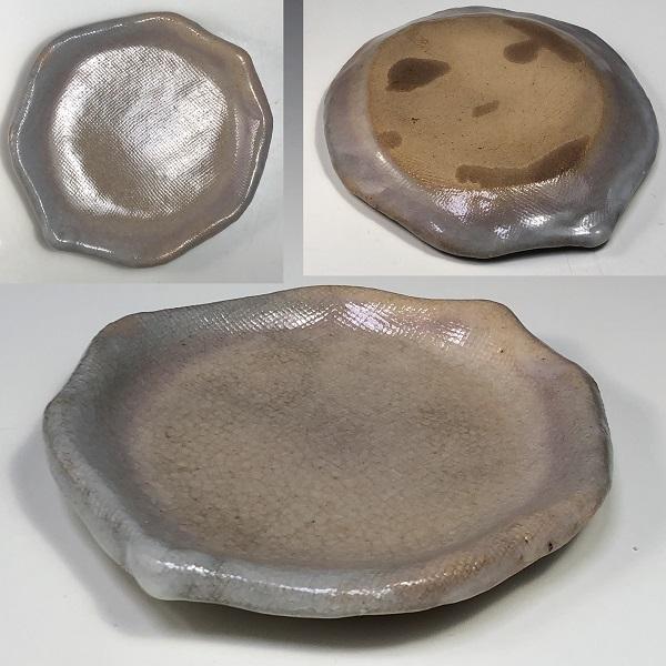 萩焼長沢窯小皿豆皿