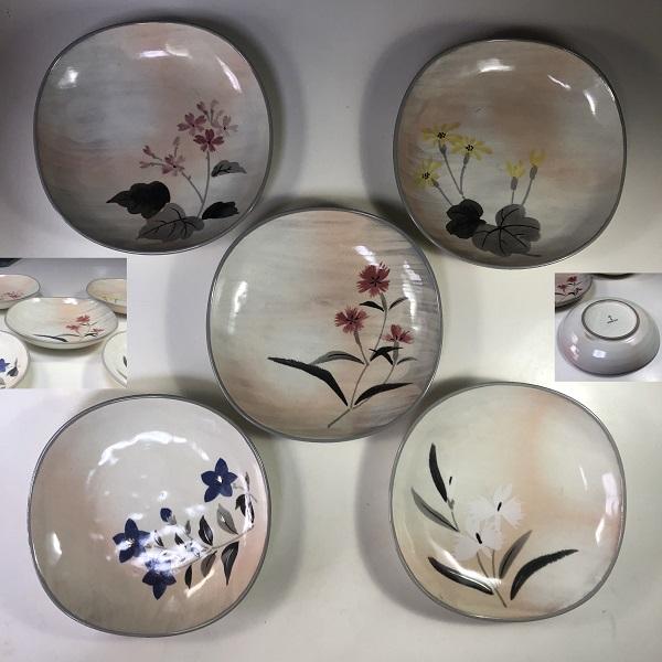 たち吉花の彩煮物皿セット