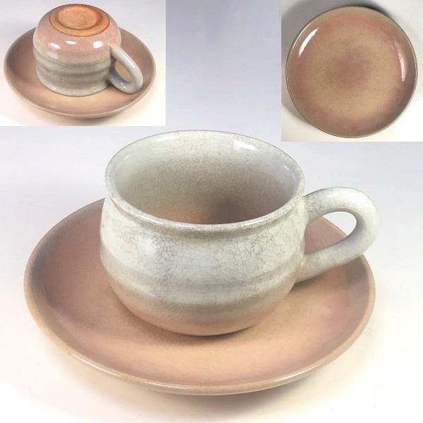 萩焼椿秀碗皿W8234
