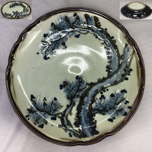一尺二寸松図大皿W7151