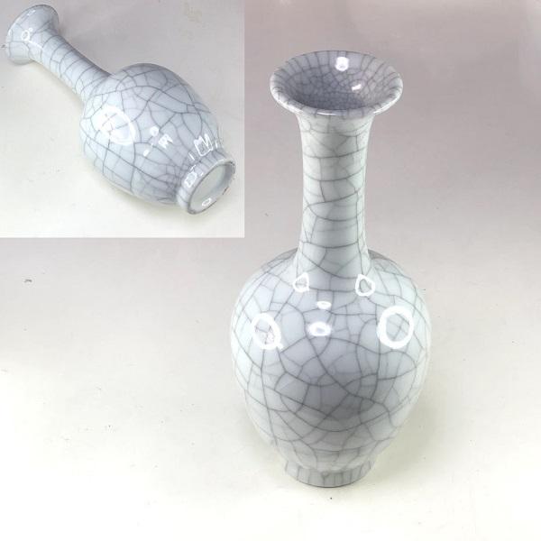 墨貫入鶴首一輪差花瓶
