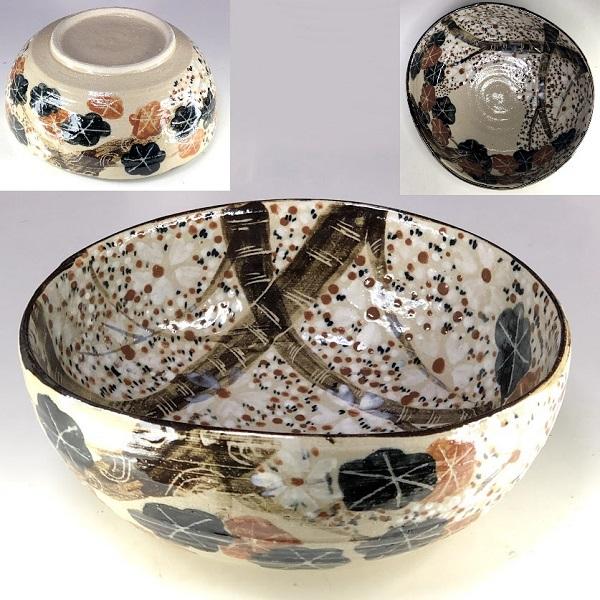 中島塩草塩草窯菓子鉢