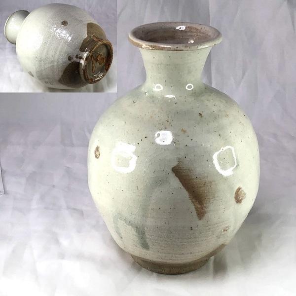 吉田喜彦粉引壺花瓶