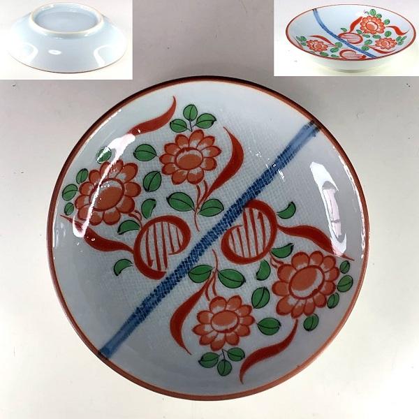 赤絵小皿W8577