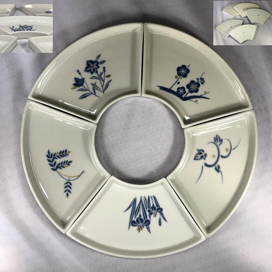 たち吉扇皿五枚セットW7077