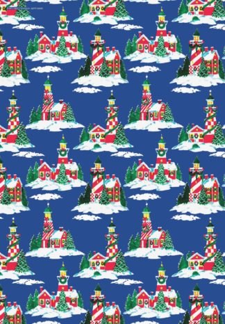 Lighthouse Christmas Gift Wrapping Paper Lighthouse Digest