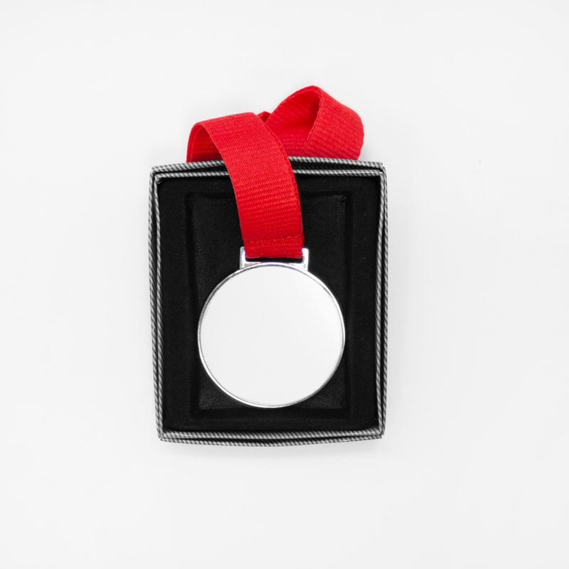 Серебристая медаль с печатью