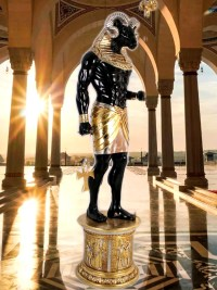 ägyptischer Gott CHnum gartenfiguren garten fantasy