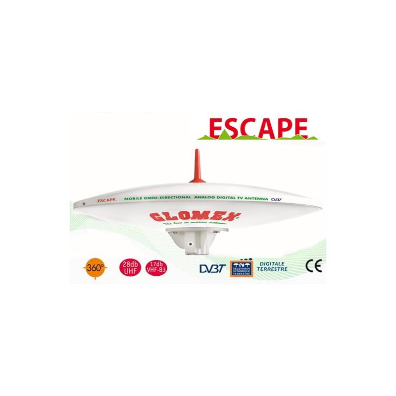 escape antenne tv tnt omnidirectionnelle pour campingcar 37cm diam