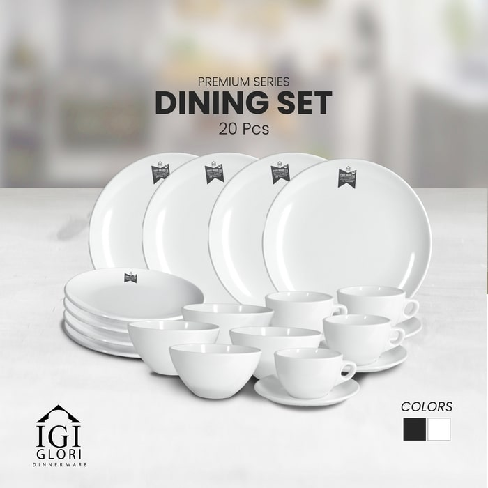 Premium Dining Dinner Set Putih Glori