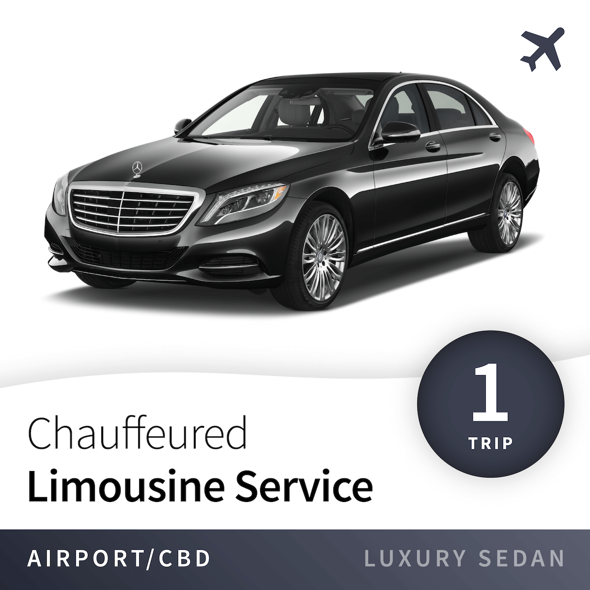 Chauffeured Limousine Service - Airport - Luxury Sedan (1 Trip) 7