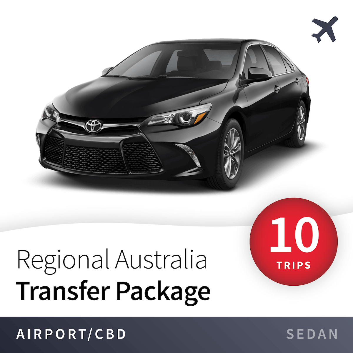 Regional Airport Transfer Package - Sedan (10 Trips) 15